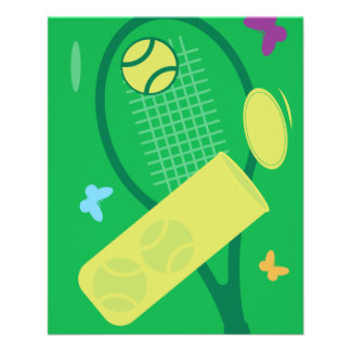 Custom tennis tournament flyers template design