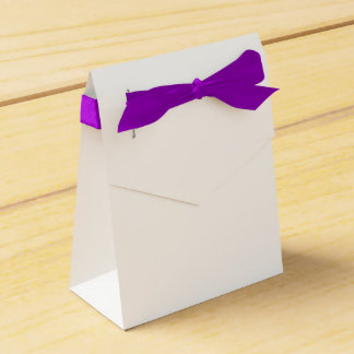 Custom Tent Favour Box (Purple Ribbon)