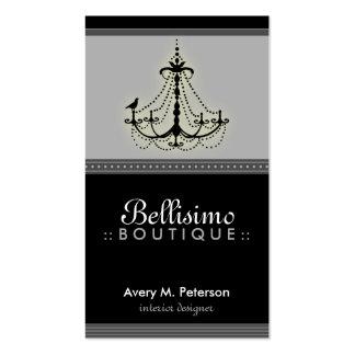 ::custom::_teresa Classy Black/Grey Chandelier Pack Of Standard Business Cards