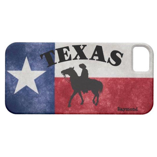 Custom Texas Flag And Cowboy iPhone 5 Case