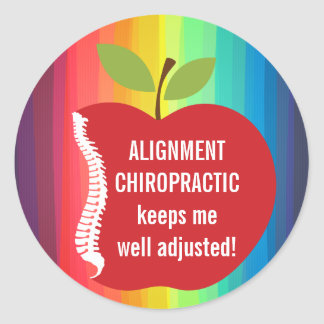 Custom Text (Apple) Chiropractic Stickers