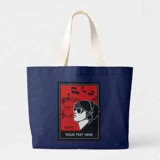 Custom Text Art Deco Music bags