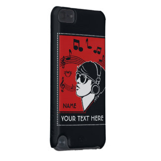 Custom Text Art Deco Music cases