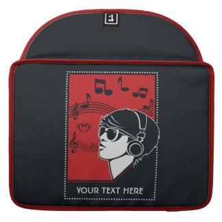 Custom Text Art Deco Music MacBook sleeves