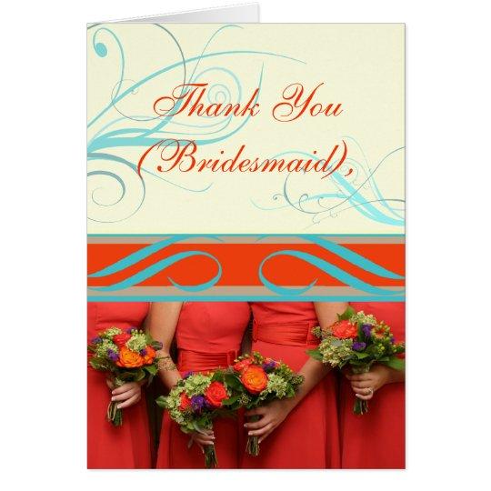 Custom Text Bridesmaid's Thank You or Proposal Card