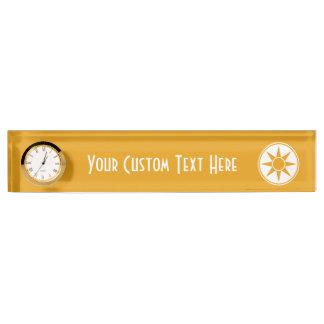 Custom text & color desk name plate