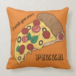 Custom Text & Color Pizza Slice throw pillows