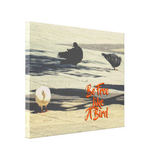 Custom Text | Cute Doves Canvas Print