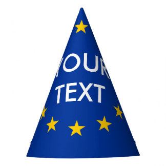 Custom text EU European Union flag party hats
