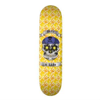 Custom Text Flames Motorcycle Candy Skull Deck Skate Board Decks