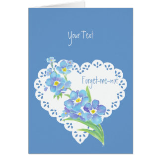 Custom text Forget-me-not flower  blue floral Greeting Card