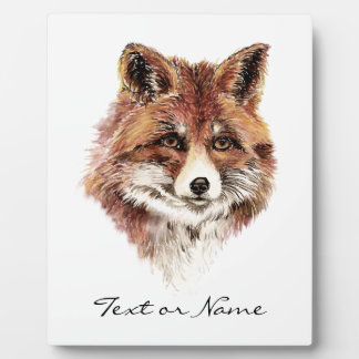 Custom Text Fox  Animal Nature Plaque