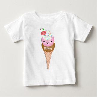 Custom  Text  Ice Cream Cone Baby T-Shirt