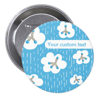 Custom Text Methane Molecules Chemistry Geek 7.5 Cm Round Badge