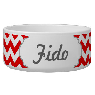 Custom Text or Monogram on Red Chevrons