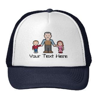 Custom Text Pixel Grandpa Cap