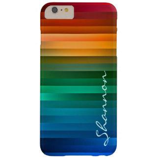 Custom Text Rainbow Stripe iPhone 6 case