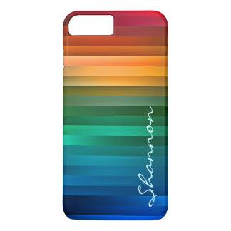 Custom Text Rainbow Stripe iPhone 7 case