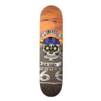 Custom Text Route 66 Motorcycle Candy Skull Deck Skateboard Decks