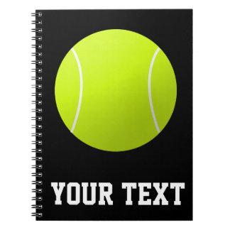 Custom Text Tennis Player or Team School Notebook