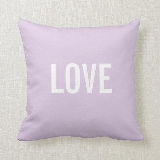 Custom Text Throw Pillows Template | LOVE Throw Cushions