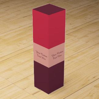 Custom text Tri-Color wine gift box