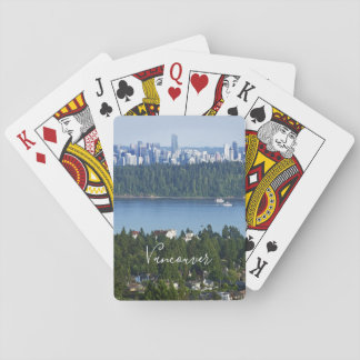 Custom text Vancouver, Canada playing cards