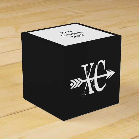 Custom Text XC Cross Country Running Favour Box
