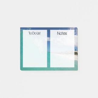 Custom Texts | Tropical Beach Post-it Notes
