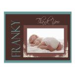 Custom Thank you Baby card for Franky Postcard