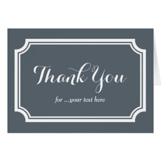 Custom thank you cards for wedding participants