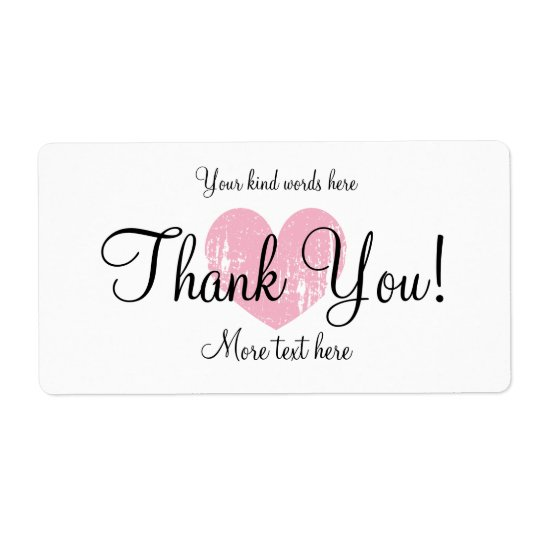 Custom thank you party favour water bottle labels