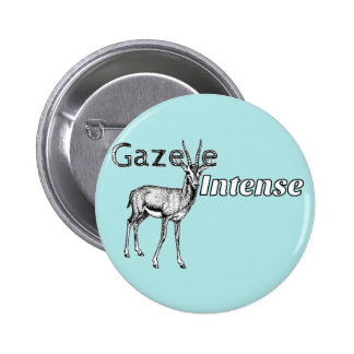 Custom the Colour! Gazelle Intense Motivational 6 Cm Round Badge
