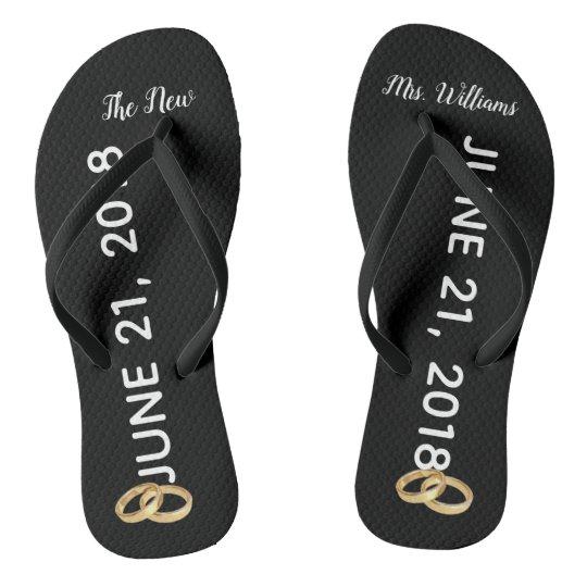 Custom The New Mrs. Gold Rings Bridal Flip