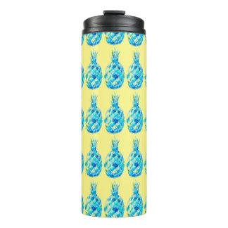 Custom Thermal Tumbler-Watercolor Pineapple Print Thermal Tumbler