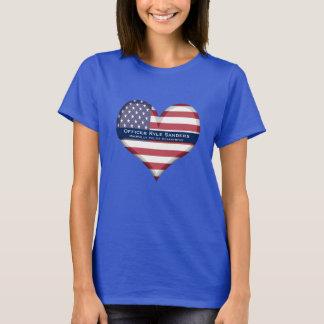 Custom Thin Blue Line Heart T-Shirt