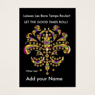 Custom Throw Card fleur de lis
