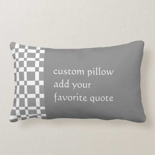 custom throw pillow add your quote grey and
