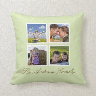 Custom Throw Pillows Photo Collage with Name