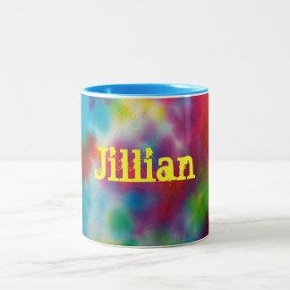 Custom Tie Dye Mug Cup