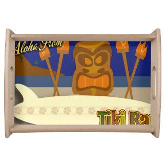Custom Tiki Bar Sign Serving Platter