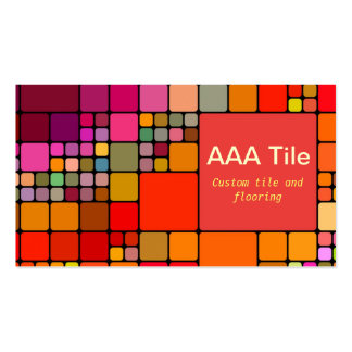 Custom Tile and Flooring Retro Mosaic Pattern Pack Of Standard Business Cards