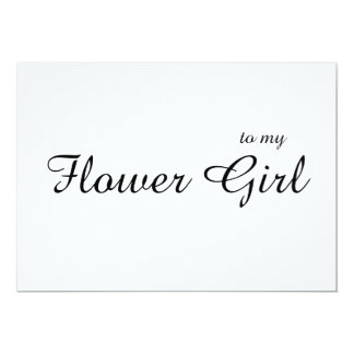 Custom To My Flower Girl Thank You Wedding Card
