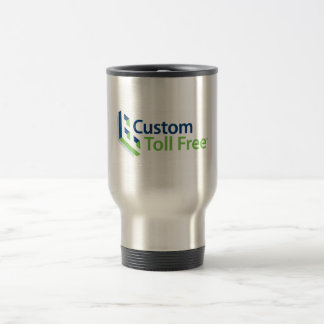 Custom Toll Free Coffee Time Stainless Steel Travel Mug