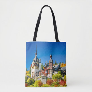 Custom Tote Bag Peles castle Sinaia