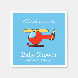 Custom toy helicopter baby shower napkins disposable serviettes