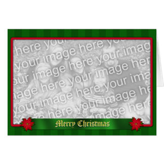Custom Traditional Christmas Holiday Greeting Card