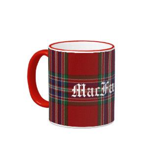 Custom Traditional MacFarlane Tartan Plaid Ringer Mug