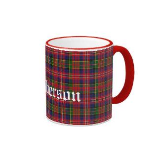Custom Traditional MacPherson Tartan Plaid Ringer Mug