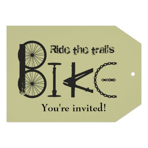 Custom Trail Bike Birthday Party Invite